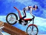 لعبة الدراجات النارية على الجليد